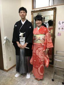 結婚式前にお振袖と黒紋付!